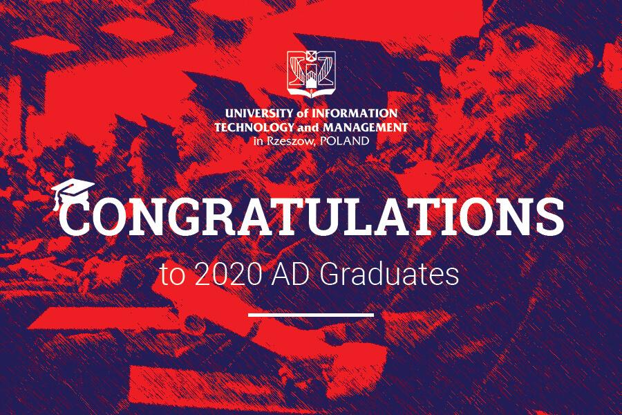 Congratulations - 2020 AD Graduation
